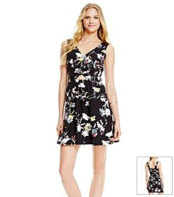 Jessica Simpson Floral Fit And Flare Dress