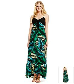 Jessica Simpson Leaf Maxi Dress