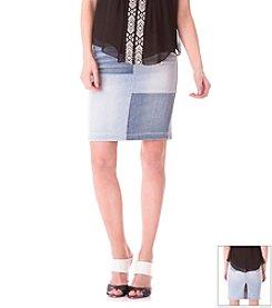 Sam Edelman™ Patchwork Denim Skirt