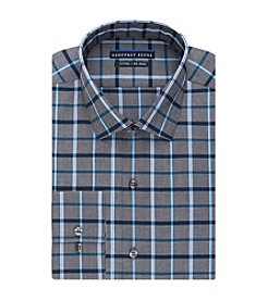 Geoffrey Beene® Men's Fitted Grid Spread Collar Dress Shirt