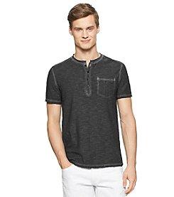 Calvin Klein Jeans Men's Short Sleeve Slub Henley