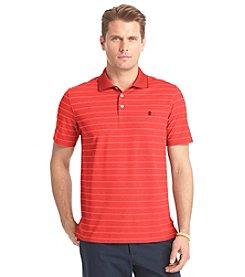 Izod® Men's Short Sleeve Oxford Stripe Performance Polo