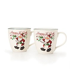 Pfaltzgraff® Winterberry Naughty and Nice Set of 2 Mugs