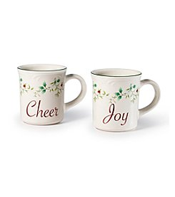 Pfaltzgraff® Winterberry Cheer and Joy Set of 2 Mugs