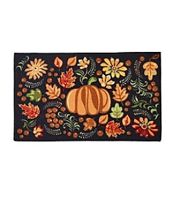Nourison Pumpkin and Leaves Accent Rug