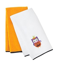 Ritz™ Halloween Critters Owl 2-pk. Kitchen Towels