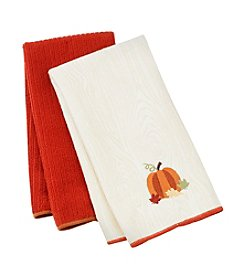 Ritz® Shades of Pumpkin 2-pk. Kitchen Towels