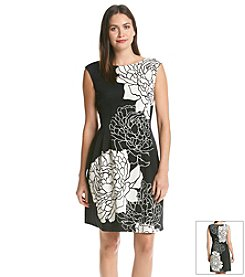Vince Camuto® Floral Border Dress