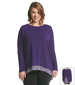 Olivia Sky Plus Size Layered Look Top