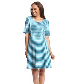 Three Seasons Maternity® Stripe Ponte Knit Dress