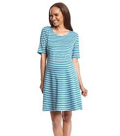 Three Seasons Maternity® Stripe Ponte Knit Dress