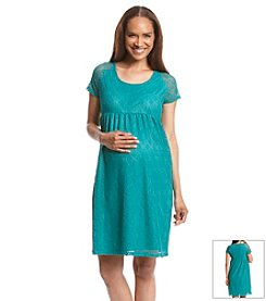 Three Seasons Maternity™ All Over Lace Dress