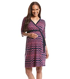 Three Seasons Maternity™ Print Knit Surplice Dress
