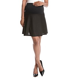 Three Seasons Maternity® Over Belly Textured Knit Skirt