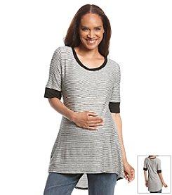 Three Seasons Maternity™ Elbow Sleeve Stripe Top