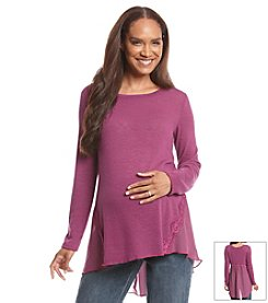 Three Seasons Maternity® Long Sleeve Top With Sheer Back