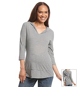 Three Seasons Maternity® Stripe Hooded Top
