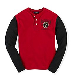 Ralph Lauren Childrenswear Boys' 8-20 Long Sleeve Knit Henley Top
