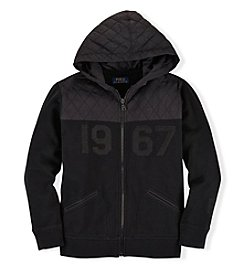 Ralph Lauren Childrenswear Boys' 8-20 Full Zip Quilted Hoody