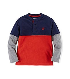 Chaps® Boys' 4-7 Long Sleeve Raglan Henley Top