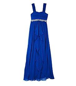 Amy Byer® Girls' 7-16 Maxi Dress With Jeweled Waist