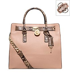 MICHAEL Michael Kors® Hamilton Embossed-Trim Leather Large Tote