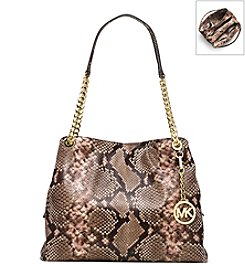 MICHAEL Michael Kors® Jet Set Large Embossed-Leather Shoulder Tote