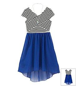 Speechless® Girls' 7-16 Striped Top With Chiffon Skirt Dress