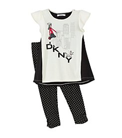 DKNY® Girls' 2T-4T Girl With The Little Dog Set