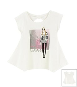 DKNY® Girls' 4-16 City Girl Sharkbite Tee