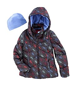 London Fog® Girls' Digital Print Puffer Jacket