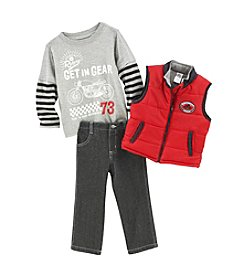 Nannette® Boys' 2T-4T 3-Piece Gear Vest Set