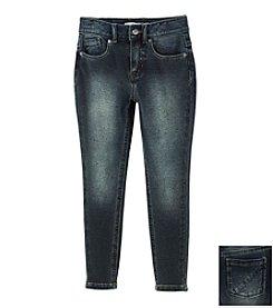 DKNY® Girls' 2T-4T Dark Wash Knit Jeans