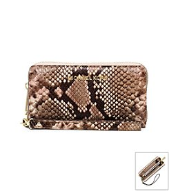 MICHAEL Michael Kors® Jet Set Large Embossed-Leather Phone Wristlet