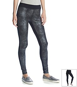Ruff Hewn GREY Distressed Foil Leggings
