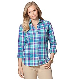 Chaps® Plus Size Plaid Cotton Shirt