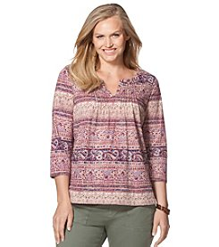 Chaps® Plus Size Paisley Peasant Top