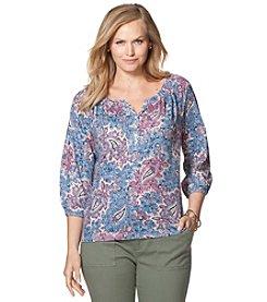 Chaps® Plus Size Paisley Jersey Shirt