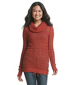 Ruff Hewn Cowlneck Open Stitch Sweater