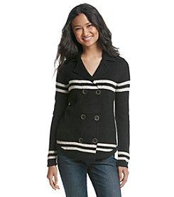 Ruff Hewn Stripe Sweater Peacoat
