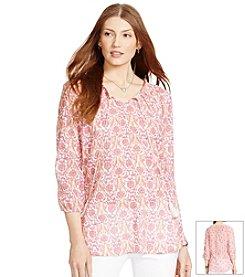 Lauren Jeans Co.® Paisley Peasant Top