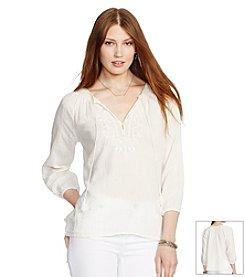 Lauren Jeans Co.® Lomeir 3/4 Sleeve-Shirt