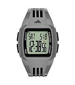 adidas® Men's Matte Gray Duramo Watch With Black Accents