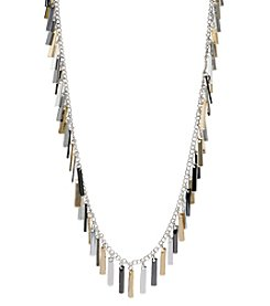 Nine West® Long Tri Tone Shaky Necklace