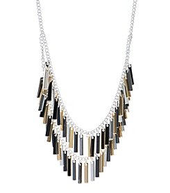 Nine West® Tri Tone Multi Row Necklace