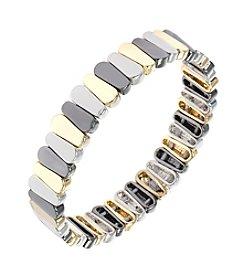 Nine West® Tri Tone Stretch Bracelet