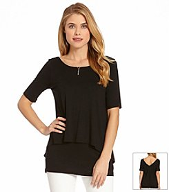 Karen Kane® Split Back High-Low Top