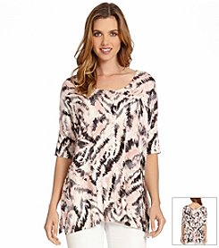Karen Kane® Printed Slit-Side Tunic