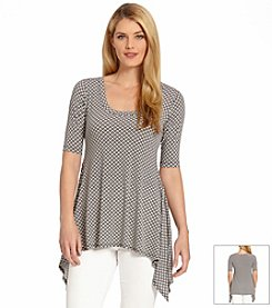 Karen Kane® Double Diamond Handkerchief Top
