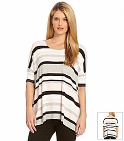 Karen Kane® Striped Slit-Side Tunic